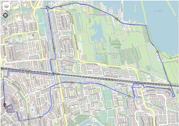 route 10 km