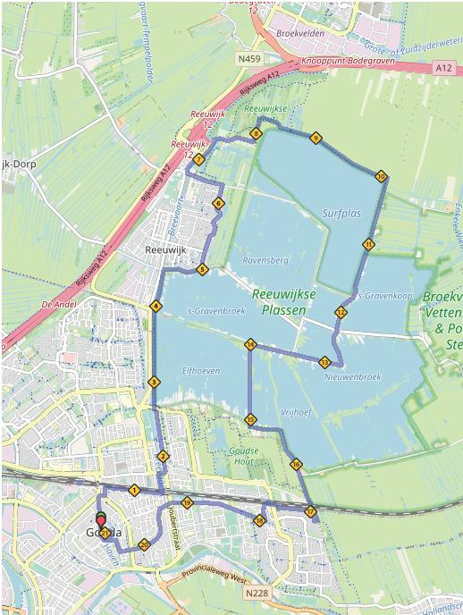 Route halve marathon